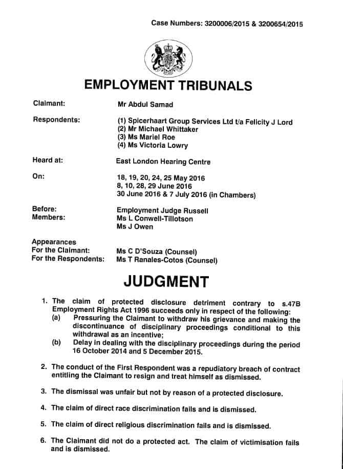 Judgment_Samad v FJL & others_Rahman Lowe Solicitors