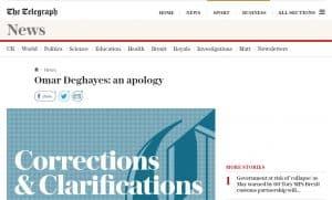 deghayes apology_the telegraph